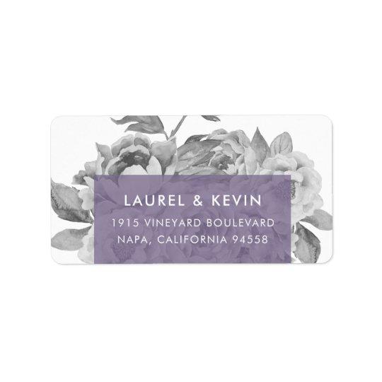 Vintage Floral Return Address Labels | Violet