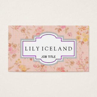 Vintage floral rose business card