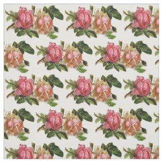 Vintage Floral Rose Fabric