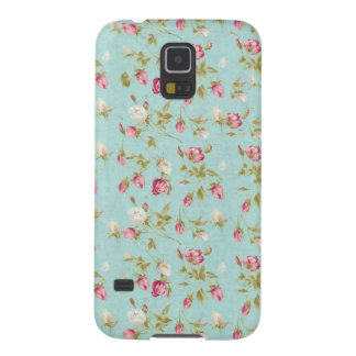Vintage floral roses blue shabby chic rose flowers galaxy s5 cases