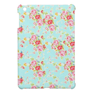 Vintage floral roses blue shabby rose flowers chic case for the iPad mini