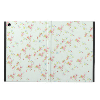 Vintage floral roses pink shabby chic rose flowers cover for iPad air