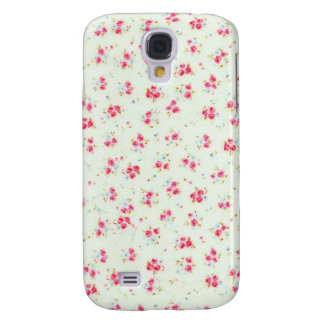 Vintage floral roses pink shabby chic rose flowers galaxy s4 case