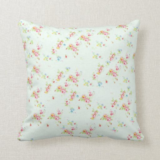 Shabby Chic Pink Pillows : Vintage floral roses pink shabby chic rose flowers pillows Zazzle