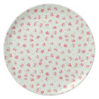 Vintage floral roses pink shabby chic rose flowers plate