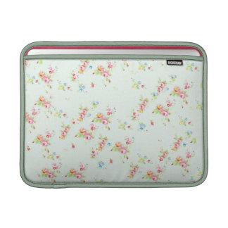 Vintage floral roses pink shabby rose chic flowers MacBook air sleeves