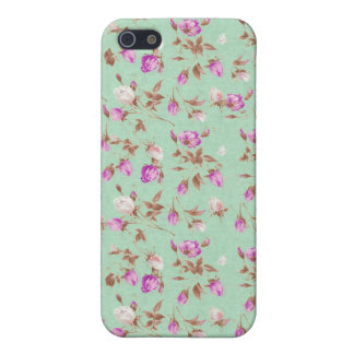 Vintage floral roses shabby rose chic flowers case for the iPhone 5