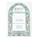Vintage Floral RSVP Wedding Cards IV 9 Cm X 13 Cm Invitation Card