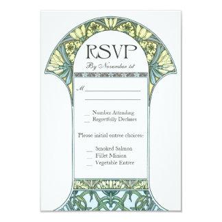 Vintage Floral RSVP Wedding Cards VII 9 Cm X 13 Cm Invitation Card
