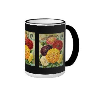 Vintage Floral Seed packet -Mug Ringer Mug