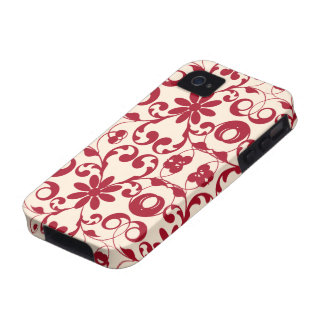 Vintage floral shabby and chic pattern vibe iPhone 4 cases