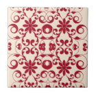 Vintage floral shabby and chic pattern tile