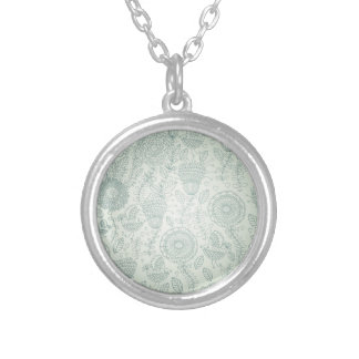 Vintage Floral Silver Plated Necklace
