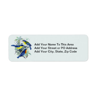 Vintage Floral Songbirds Apparel and Gifts Return Address Label