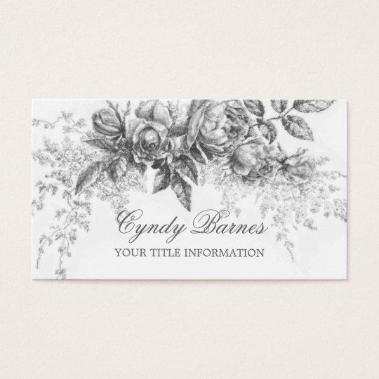 Vintage Floral Spray Business Card