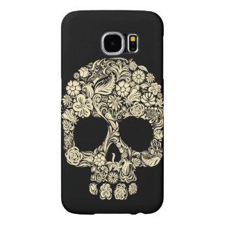 Vintage Floral Sugar Skull Samsung Galaxy S6 Cases