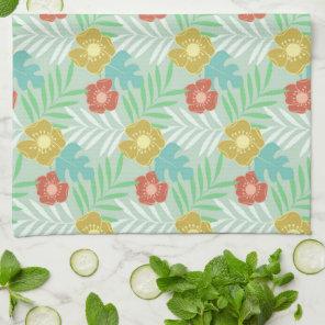 Vintage floral summer pattern Kitchen Towel