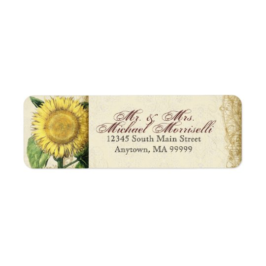 Vintage Floral Sunflowers - Autumn Fall Wedding