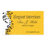 Vintage Floral Swirl Interior Designer Elegant Pack Of Standard Business Cards