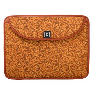 Vintage Floral Tangerine Macbook Pro Flap Sleeve MacBook Pro Sleeves