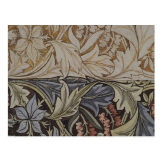 Vintage Floral Tapestry Antique Fabric Pattern Postcard