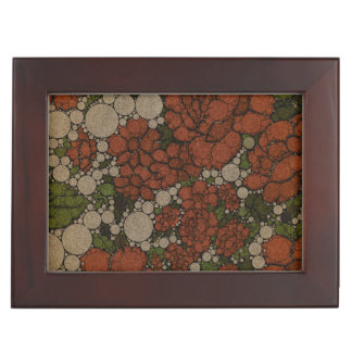 Vintage Floral Texture Abstract Memory Box