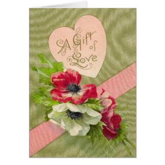 Vintage Floral Valentine Card