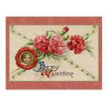 Vintage Floral Valentine Post Card