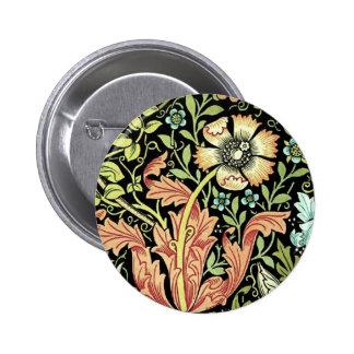 Vintage Floral Wallpaper 6 Cm Round Badge