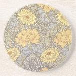 Vintage Floral Wallpaper Chrysanthemums