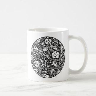 Vintage Floral Wallpaper Grape Pattern Basic White Mug