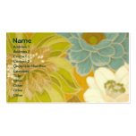Vintage Floral Wallpaper, Turquoise Green & Brown Business Card Templates
