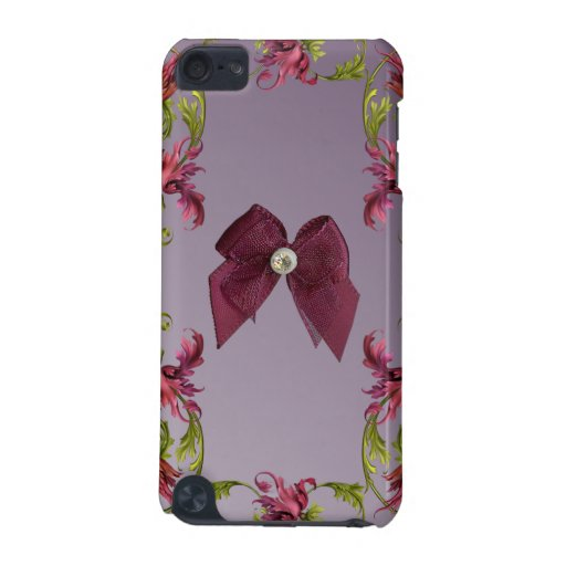 Vintage Floral Wallpaper with Bow Speck iPod Case iPod Touch 5G Covers