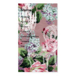 Vintage Floral Wallpaper With Chair and Chandelier Pack Of Standard Business Cards