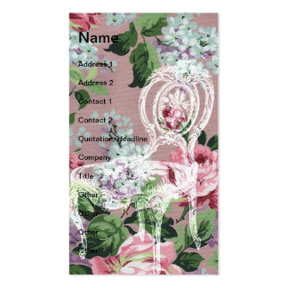 Vintage Floral Wallpaper With Chair Pack Of Standard Business Cards