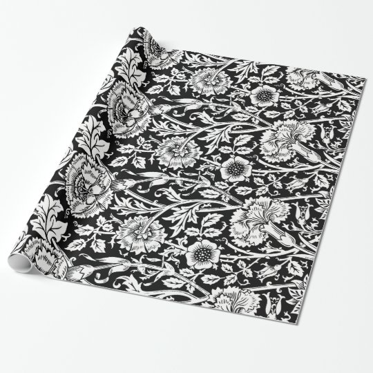 Vintage Floral Wallpaper Wrapping Paper