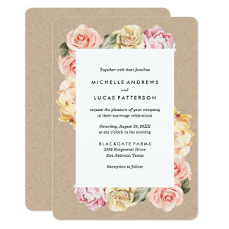 Vintage Floral | Wedding Invitation