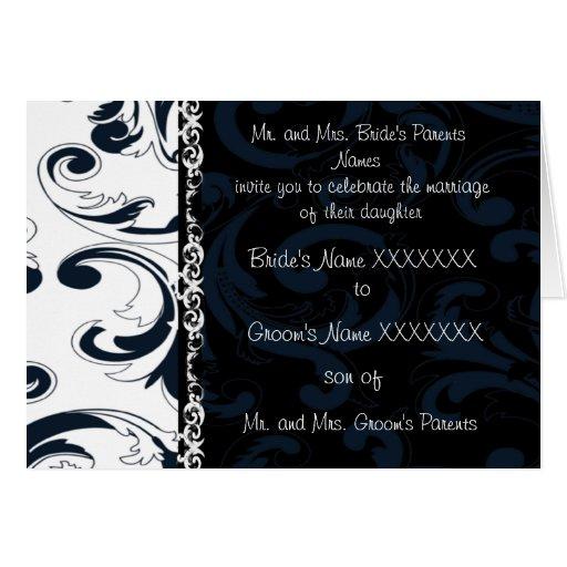 Vintage Floral Wedding Invitation Black Amp White Cards