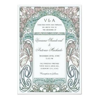 Vintage Floral Wedding Invitations IV (Purple)