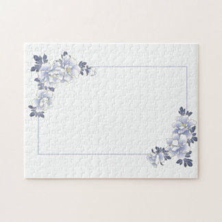 Vintage Floral Wedding or Anniversary Jigsaw Puzzle
