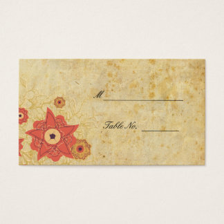 Vintage Floral Wedding Reception Table Placecards