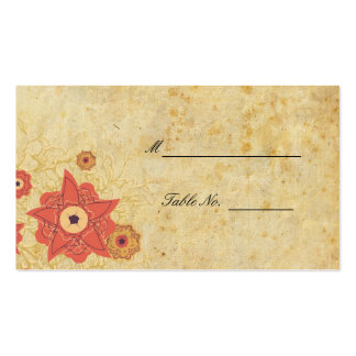 Vintage Floral Wedding Reception Table Placecards Pack Of Standard Business Cards
