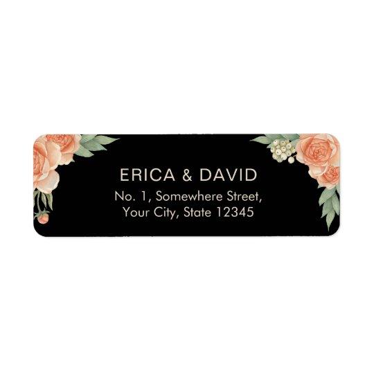 Vintage Floral Wedding Return Address Label
