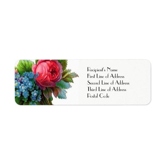 Vintage Floral WEDDING Return Address Postal Label