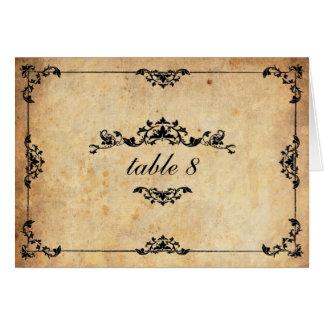 Vintage Floral Wedding Table Number Cards