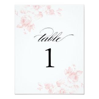 Vintage floral wedding | Table numbers Card