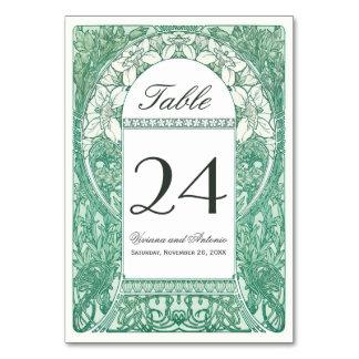 Vintage Floral Wedding Table Numbers V (v.4) Table Cards