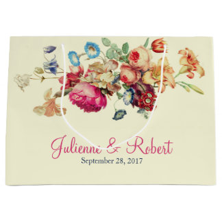 Vintage Floral Wedding Thank You Gift Bag