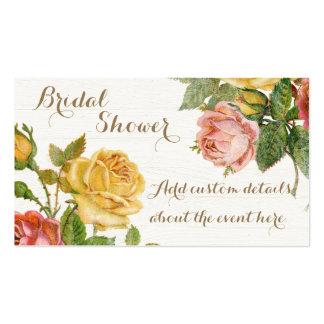 Vintage Floral Whitewash Spring Bridal Shower Pack Of Standard Business Cards