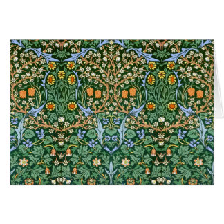 Vintage Floral William Morris Fine Art Note Card